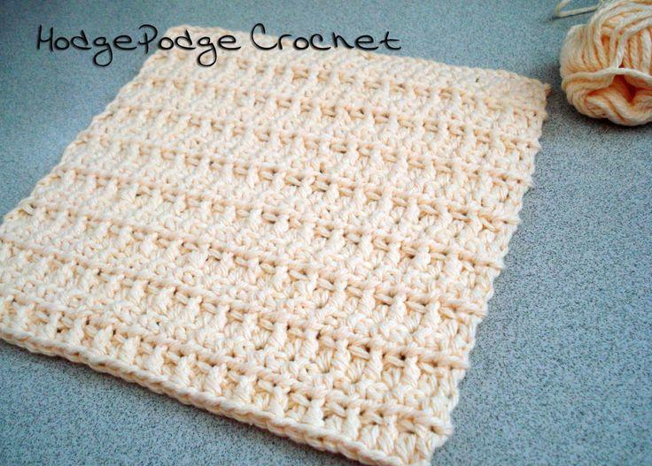 83 best Crochet Washcloths images on Pinterest | Knit crochet ...