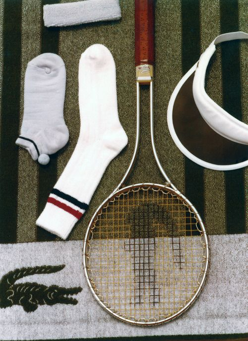 Lacoste Vintage Tennis equipments -- For more vintage accessories, visit my board http://pinterest.com/davidos193/essentials-mens-accessories/