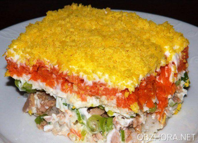 Салат мимоза из консервированных сардин