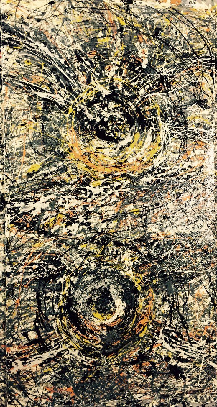 Tecnica mista 150X80 OWL one . Pollock