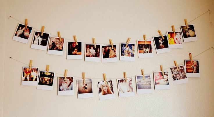 This is a super easy DIY and it looks so cute. every tumblr bedroom needs one of these.Start by printing off some super cute tumblr worthy photos. you can use any amount but I would use about 10 per...