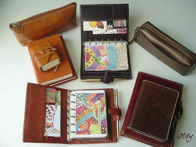 I want a filofax. They are pleasing to write in.: Decor Ideas, Crafts Ideas, Birds Illustrations, Brown Leather, Art Journals, Schools Supplies, Brown Filofax, Ideas Diy, Cool Ideas