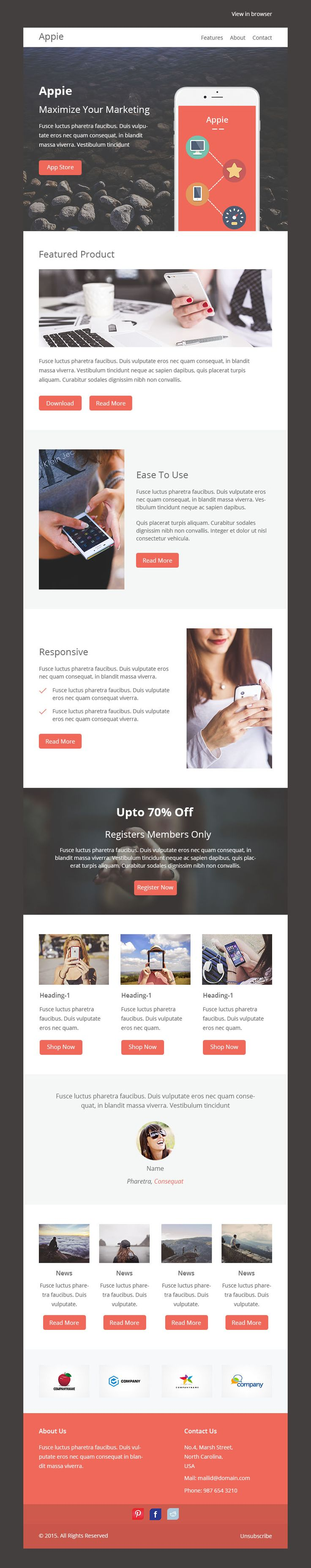 19 best Email Templates images on Pinterest