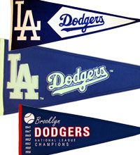 dodger pennants. I want to make these, but personalize them with the boys names and numbers!