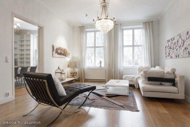 Myytävät asunnot, Rauhankatu 2 A, 20100 Turku #oikotieasunnot #olohuone #livingroom