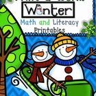 UPDATED 1/09/2014!  Math and Literacy Printables Activities Worksheets (61) pages of fun.  All aligned to the Common Core  This packet includes the...