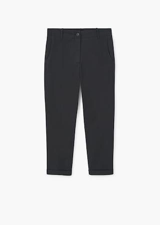 Straight cotton trousers | MANGO