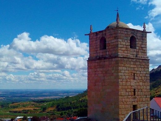 Clock Tower in Castelo Novo Portugal
