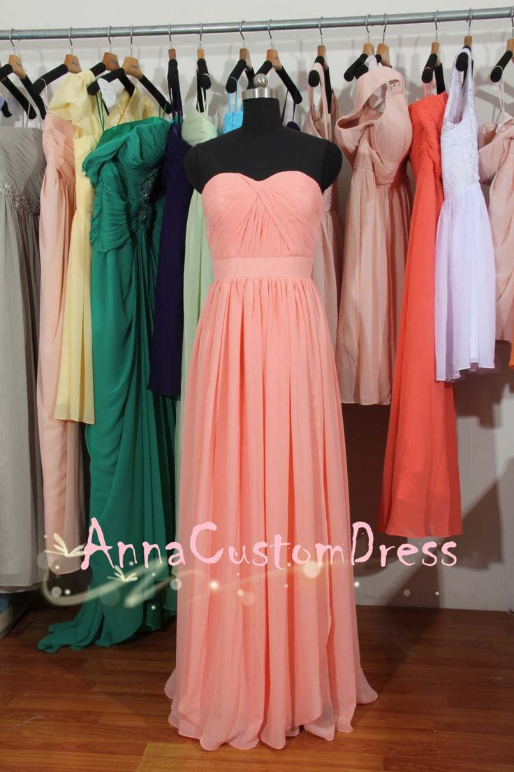 29 best pink series bridesmaid dress images on pinterest chiffon sweetheart long light watermelon chiffon convertible bridesmaid dress ombrellifo Images