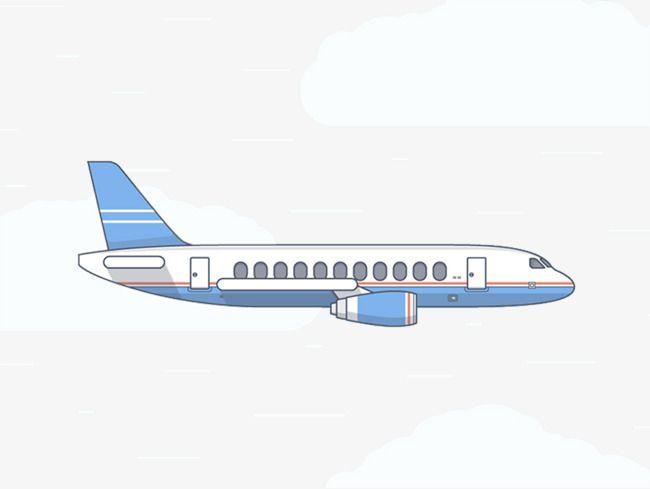 Cartoon Airplane Creative Side View ศ ลปะ สต กเกอร