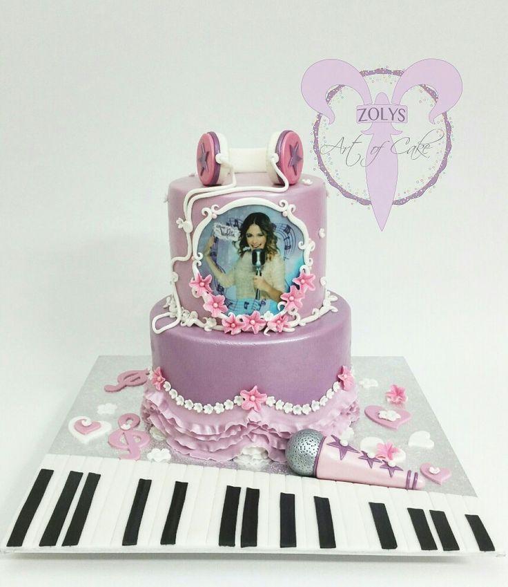 #Artofcake #zolys #birthday #cake #geburtstag #torte #gateau #anniversaire #violetta #musik #music #musique #sing #chanter #singen #violet #pink #girly #bespoke #fille #