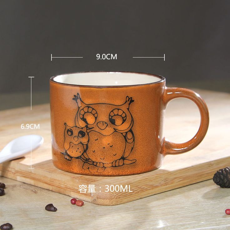 Miland Spring!! Creative Gift Ceramic Coffee Milk Tea Mug 3d Animal Shape Hand Painted Animals The Owl Cup-in Mugs from Home & Garden on Aliexpress.com | Alibaba Group
