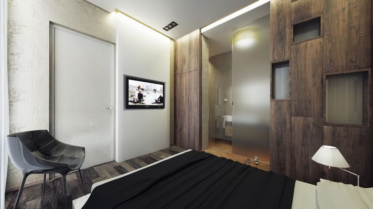 Luxury apartment renovation- Guest Bedroom design, Budapest, Hungary