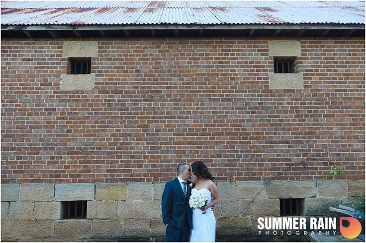 Renee and Paul | Garden Wedding | Eschol Park House | The perfect photo in front the rustic wine cellar | Sydney Weddings | Thanks to Summer Rain for this photography