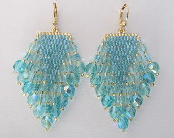 Native American Style Seed Bead Earrings  by pattimacs on Etsy
