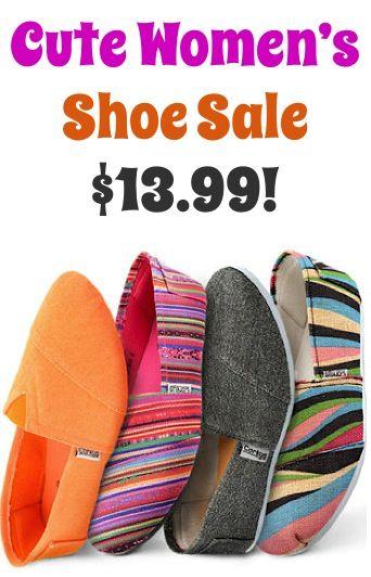 Cute Women's Shoe Sale: $13.99! #shoes #thefrugalgirls