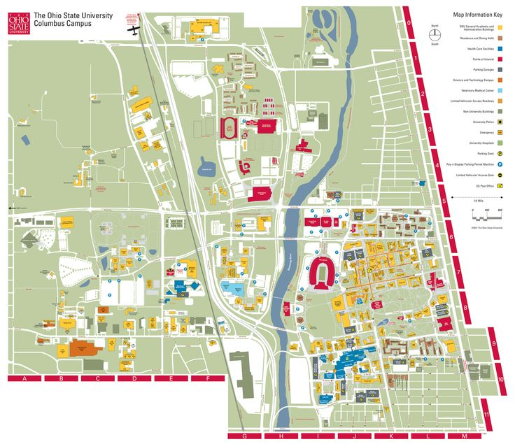 Large Cus Map The Ohio State University Pinterest
