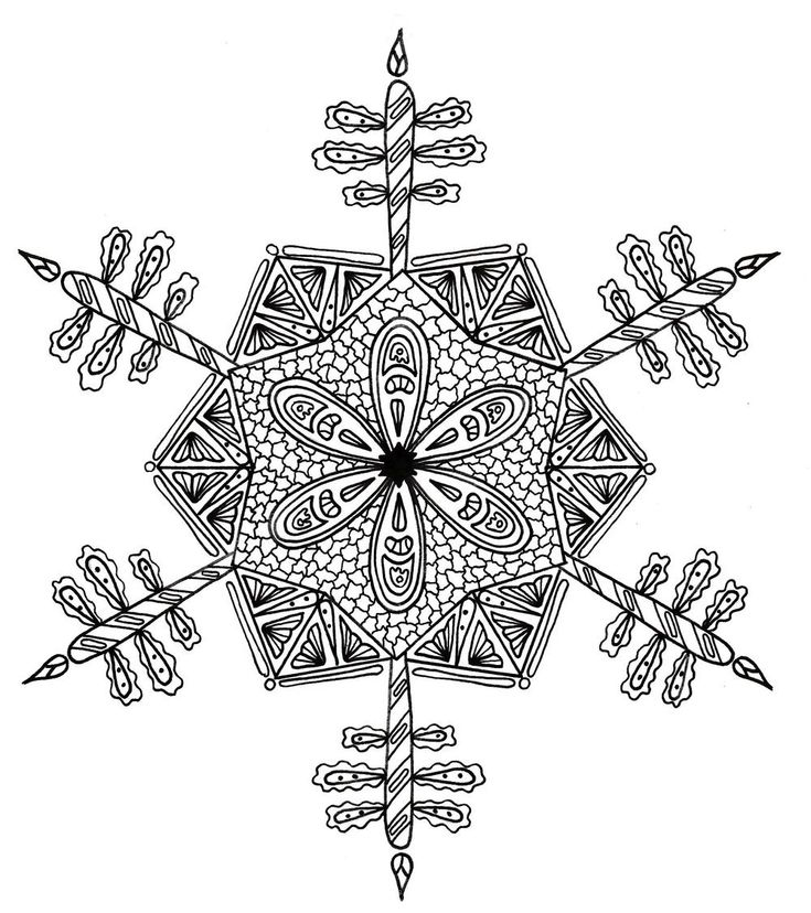 Snowflake Coloring Pages Pdf : Best free adult coloring book pages images on pinterest