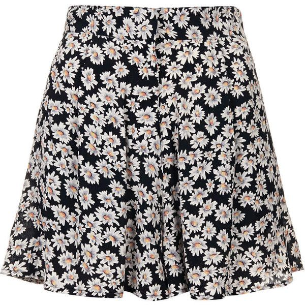 TOPSHOP Scatter Daisy Shorts found on Polyvore
