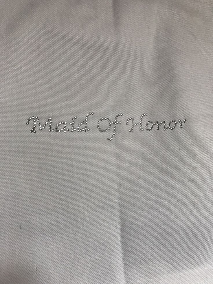 A personal favorite from my Etsy shop https://www.etsy.com/listing/500205186/blingy-maid-of-honor-tote