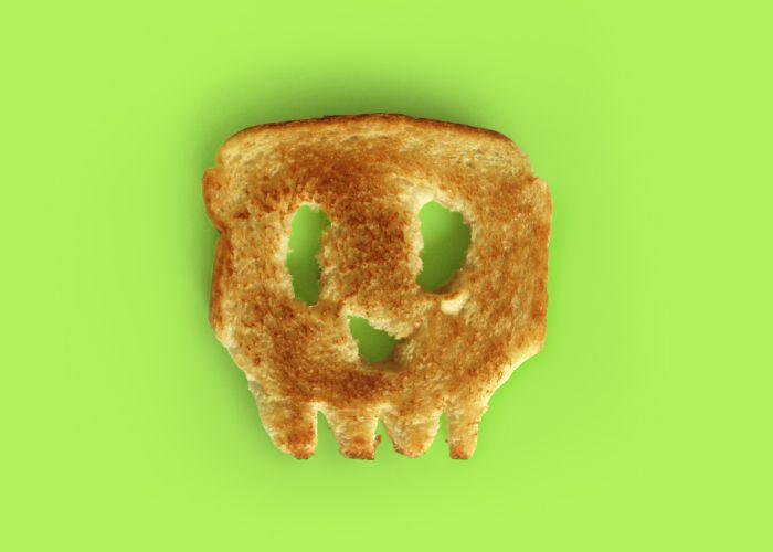 Roasted skull