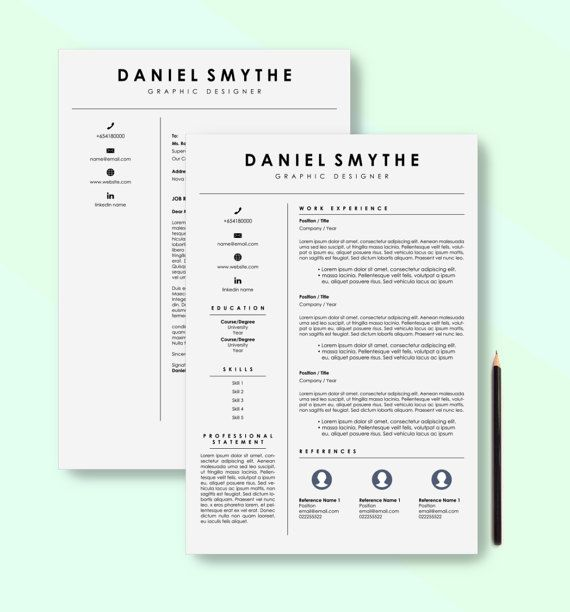 Resume template download for Word & InDesign that will ensure you get that interview. Spend your limited time on finding the job of your dreams and leave the creative to us – download one of our resumes and all you need to worry about is entering your skills and experience. Design is important, but so is content! Ensure you stand out with this professional and simple resume (includes cover letter). You owe it to yourself and the Manager that will read your resume to present your skills, e...