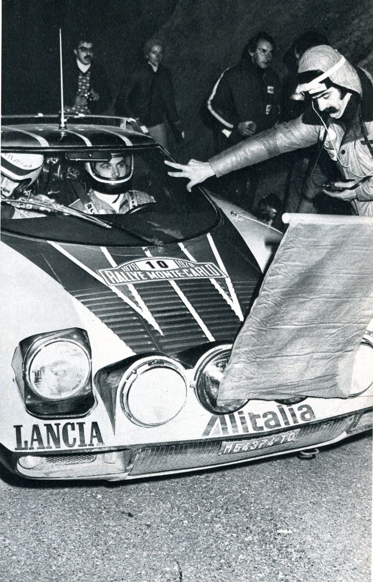 Sandro Munari (Lancia Stratos HF) vainqueur du Rallye de Monte-Carlo 1976 (col de Pontis) - L'Automobile février 1976.