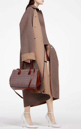 Double Face Check Coat by NINA RICCI for Preorder on Moda Operandi
