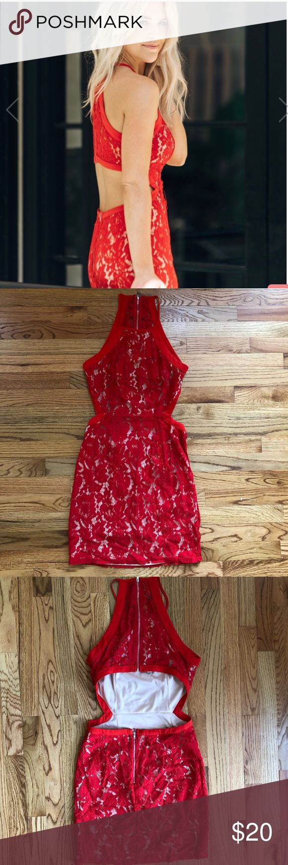 Red valentines dress vday date 😍 Red lace dress