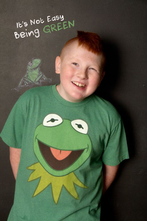 """""""It's Not Easy Being Green"""" Portrait Creations Portrait Studio in Charlotte, NC."""
