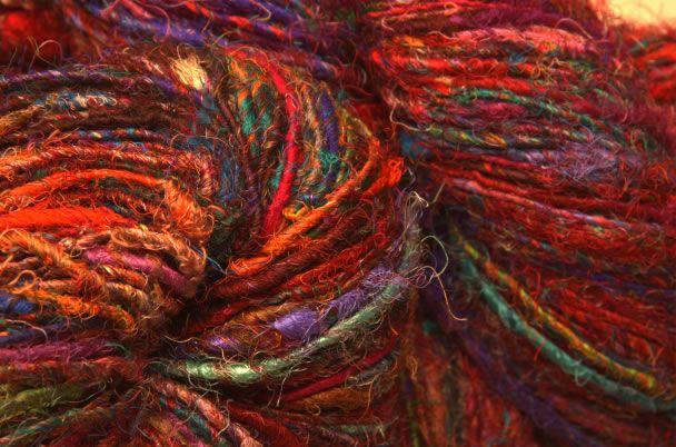 Sari silk: Future Projects, Yarns, Sari Silk, Recycled Silk Just