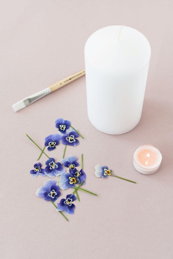 DIY Idee für den Muttertag: Blumen-Kerzen selber machen  – Plant a home