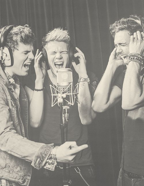 The effort it takes to sing the high notes - Joel Peat, Ryan Fletcher & Andy Brown :)