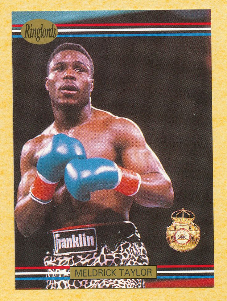 Meldrick Taylor boxer boxing 1991 Ringlords trading card #27