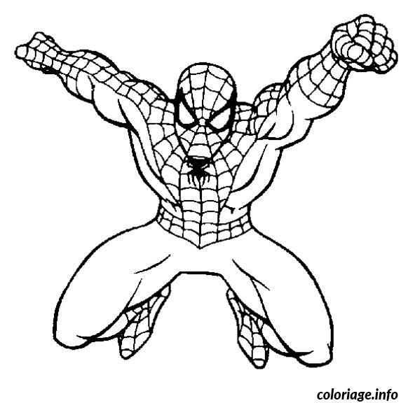 Les 25 meilleures id es de la cat gorie coloriage spiderman imprimer sur pinterest symbole - Coloriage en ligne de spiderman ...