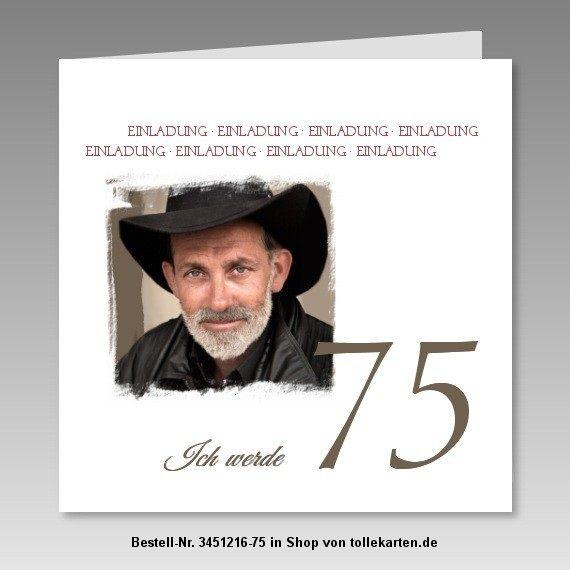 die besten 25+ 75. geburtstag einladungen ideen nur auf pinterest, Einladungsentwurf