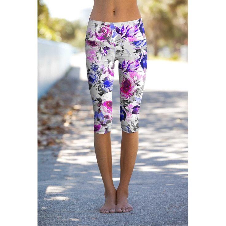 Floral Touch Ellie Performance Capri Leggings - Women