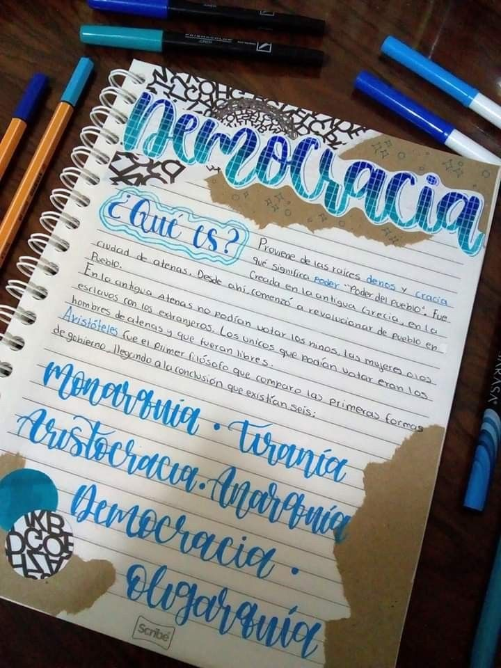 Bullet Journal Ideas: Ideas Para Tus Apuntes En Color Azul