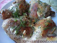 Фото к рецепту: Жареные куриные окорочка
