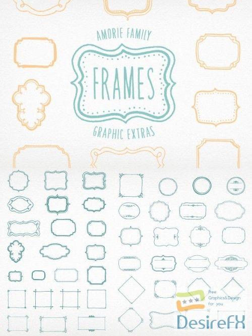 Amorie Font Extras – Frames | Fonts | Fonts, Frame, Bullet journal
