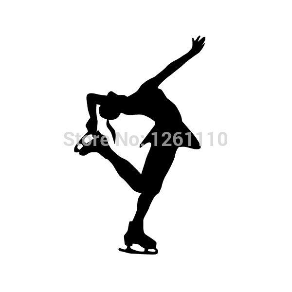 Зимние виды спорта современный фигурное катание танцы на льду представляют разработанный виниловая наклейка для грузовик внедорожник окно бампер стену ноутбук