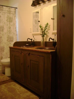 132 best images about colonial bathroom on pinterest primitive bathrooms country bathrooms. Black Bedroom Furniture Sets. Home Design Ideas