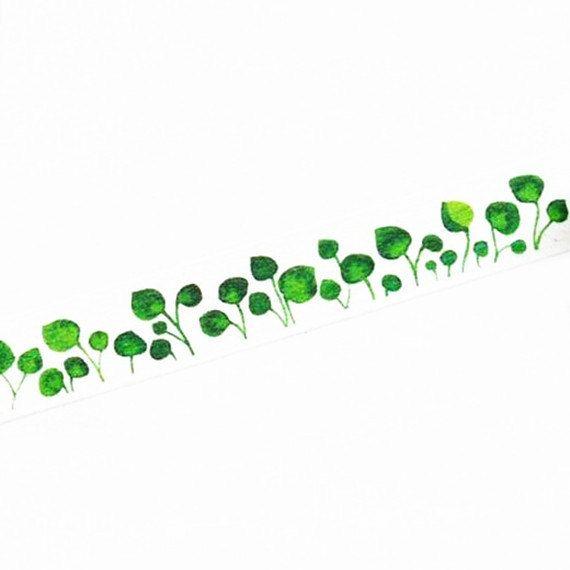 Washi Tape, Plant Washi Tape, Green Washi Tape, Lotus Leaf Washi Tape