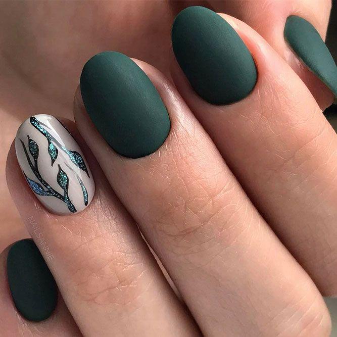 Best 25 colorful nail designs ideas on pinterest pretty nail 36 fresh green nails ideas to get this season matte nail designsnail polish prinsesfo Images