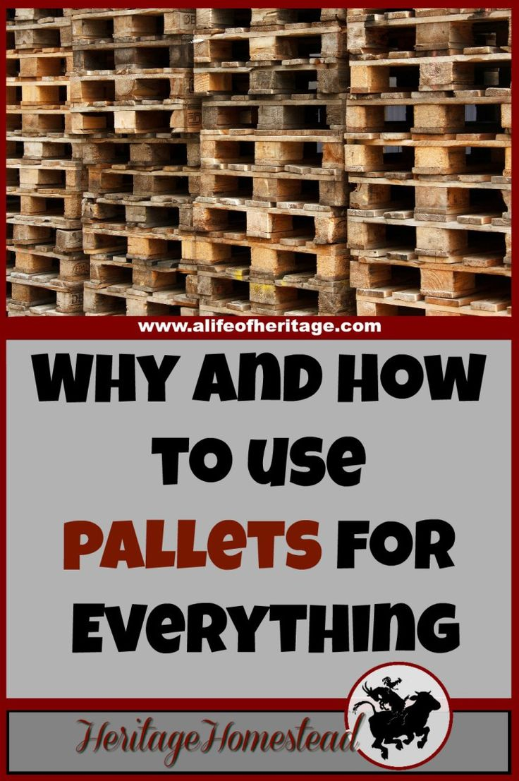 Pallets | How to use pallets | Building with Pallets | Two reasons why pallets are awesome. And how to use pallets in your home and on your homestead right away. Great ideas to keep you going!