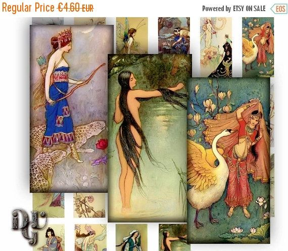 35% OFF SALE Warwick Goble FAIRY Tales Digital by DreamUpGraphic