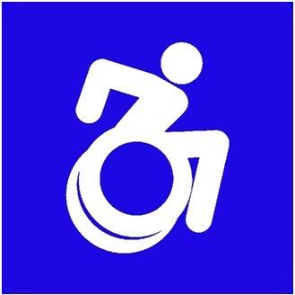 Depois de vários anos de petições por mudança, designers da Gordon College, de Massachusetts, chegaram a uma alternativa à figura de um boneco sentado em uma cadeira de rodas.Sua nova personagem é dinâmica, inclinada para frente com os braços a postos.
