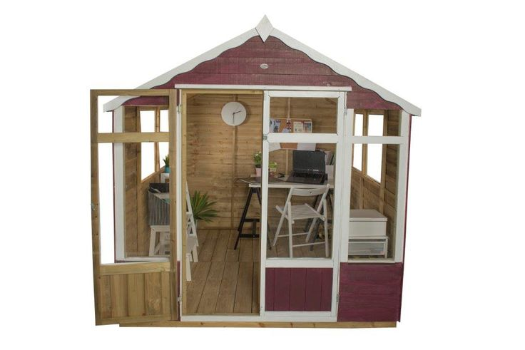 The 7x7 Oakley Summerhouse from Forest is packed full of fantastic features, such as the ¾ length windows and glazed double doors so the interior is flooded with light. You can use this summerhouse as an at-home office, a craft room or somewhere to entertain guests for a dinner party.