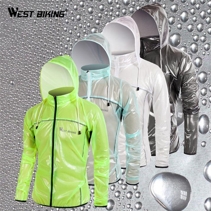 WEST BIKING Raincoat MTB Cycling Jersey Jacket Waterproof Windproof TPU Raincoat Bike Bicycle Raincoat Cycling Clothes