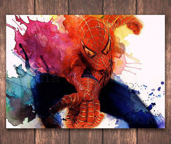 Hey, I found this really awesome Etsy listing at https://www.etsy.com/listing/228897003/spiderman-art-print-avengers-digital